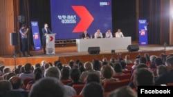 Armenia - Former President Robert Kocharian and senior members of his opposition bloc hold an election campaign meeting in Syunik region, June 7, 2021.