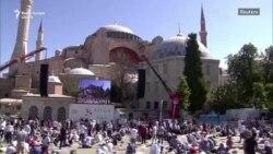 Rugăciunea de vineri în Hagia Sofia, după ce a fost transformată în moschee