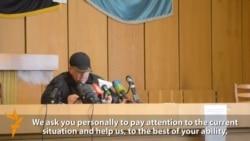 Separatist Leader In Ukraine's Slovyansk Asks Putin For Help