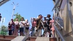 В Бишкеке второй год не работают установленные подъемники для людей с инвалидностью