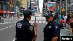 Нью-Йорктогу полиция кызматкерлери.