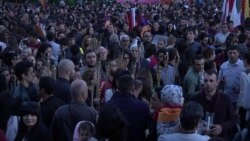 Armenians March In Torch-Lit Vigil