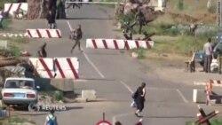 Обстрел блокпоста рядом с Волновахой