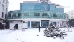 Весенняя метель в Симферополе (видео)