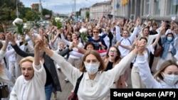 Женская акция против полицейского насилия, 12 августа