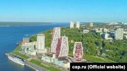 Проект высотных зданий в речном порту Чебоксар