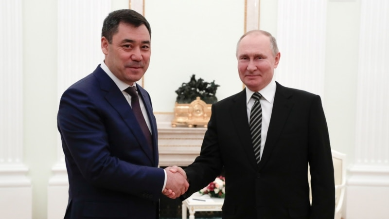 Kyrgyz President Meets With Putin In First Trip Abroad