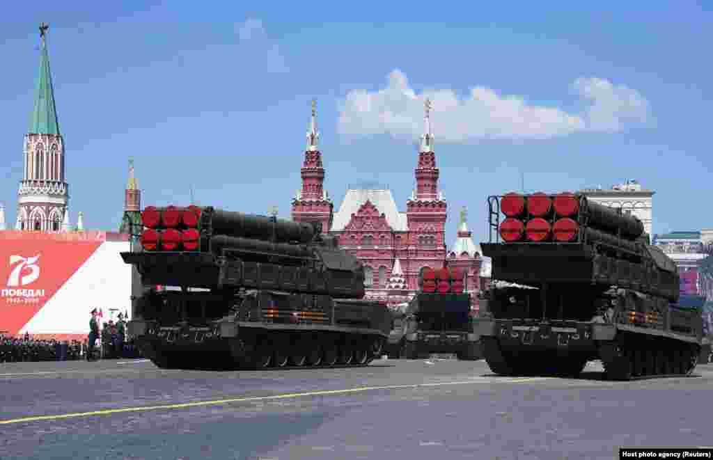 Russia's Buk-M3 missile system was showcased during the Victory Day parade.