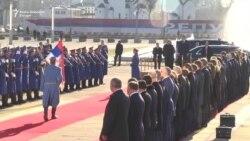 Doček za Putina ispred Palate Srbija u Beogradu