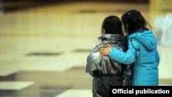Возвращенные из Ирака дети граждан Кыргызстана.