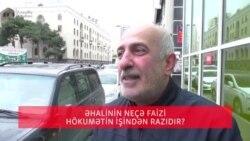 Azərbaycanda əhalinin neçə faizi hökumətin işindən razıdır?