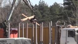 Як зносили хрести в Куропатах – відео