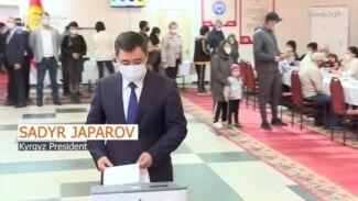 Kyrgyz President Votes In Referendum On New Constitution