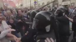 Противостояние демонстрантов и полиции в Москве