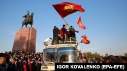 Бишкектеги аянттагы митинг. 5-октябрь, 2020-жыл