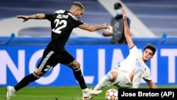 The match took place at Real Madrid's Santiago Bernabeu Stadium.