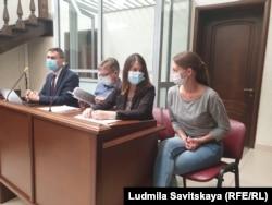Светлана Прокопьева в зале суда. Июнь 2020 года