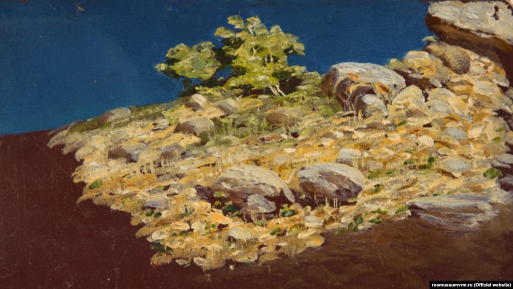 Картина Куїнджі «Гірський схил. Крим» (між 1885 і 1890)