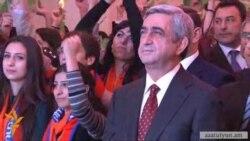 Սերժ Սարգսյանը քարոզարշավն սկսեց «կանաչ տերեւ» խորհրդանիշով