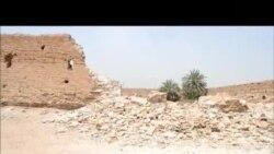 الامطار هدت جزءا من خان العطيشي في كربلاء