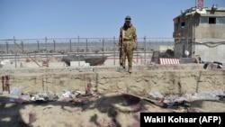 Местото на нападот на аеродромот во Кабул.