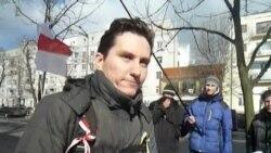 Рух салідарнасьці «Разам» пікетуе пасольства Латвіі ў Кіеве