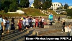 Акція на підтримку Валентина Виговського на Майдані Незалежності в Києві, 3 серпня 2021 року