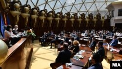 Собраниска седница за избор на нова Влада на Република Северна Македонија. 30.08.2020.