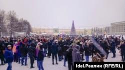 Акция в поддержку Алексея Навального в Кирове, январь 2021 года