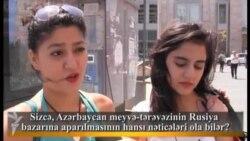Sizcə, Azərbaycan meyvə-tərəvəzinin Rusiya bazarına aparılmasının hansı nəticələri ola bilər?