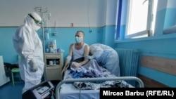 Romanian head nurse in a Covid hospital