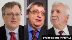 Юрась Зянковіч, Аляксандар Фядута, Рыгор Кастусёў (зьлева направа)