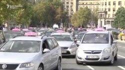 Protest taksista u Beogradu