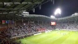 «Жыве Беларусь!» на трыбунах «Барысаў-Арэны»