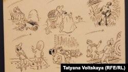 Карикатура Херлуфа Бидструпа: народы мира смотрят на советский спутник