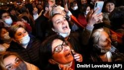 د ارمنستان په پلازمېنه کې یو شمېر اعتراض کوونکي