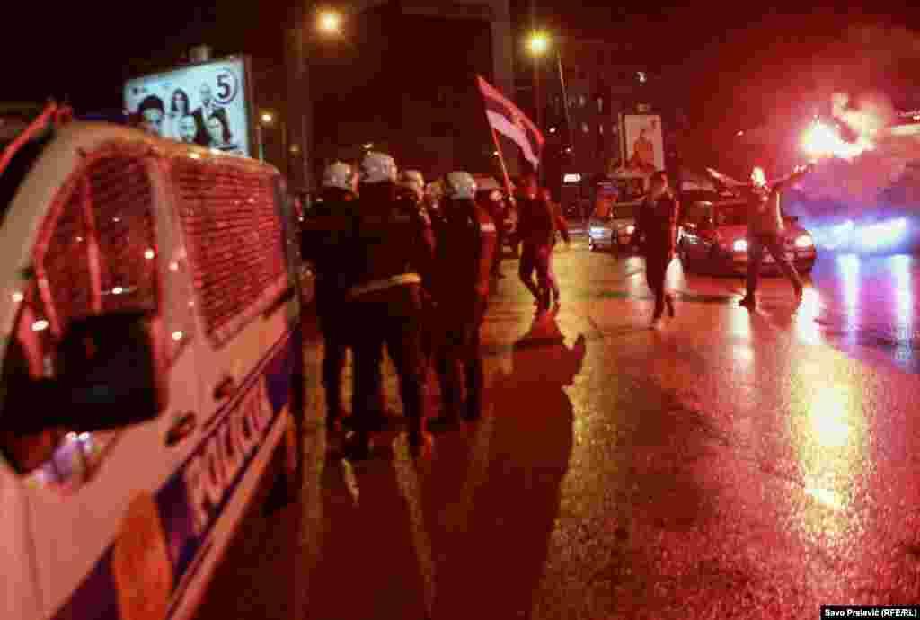 Na ulicama Nikšića su bile raspoređene jake snage policije.