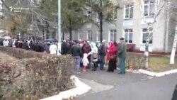 Aglomerație la secțiile de votare din satul Varnița