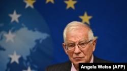 Глава внешнеполитического ведомства ЕС Жозеп Боррель. Нью-Йорк, 20 сентября 2021 года