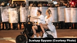Мирный протест в Минске, 2020 год