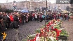 Doliu în Piața Independenței la Kiev