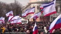U centru Simferopola miting podrške referendumu