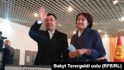 Садыр Жапаров с супругой.