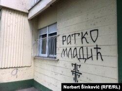 Grafit me emrin e Mlladiqit në Novi Sad