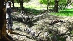 После авиаудара. Афганская деревня Шадал Базар разрушена от «супербомбы»