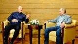 Владимир Путин и Александр Лукашенко во время встречи в Сочи, февраль 2021