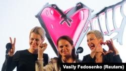 Вераника Цапалка,Свјатлана Циханускаја и Мерија Калесникава