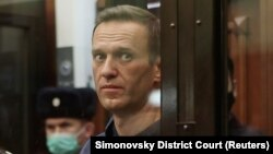 Navalny gave a roughly 30-minute speech in court.