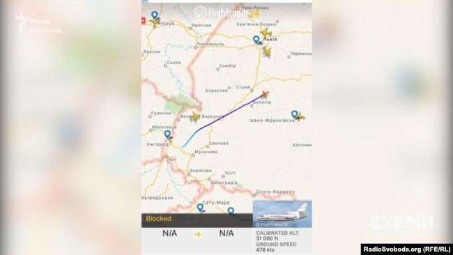 Літак Медведчука повертається з Ужгорода. 5 листопада