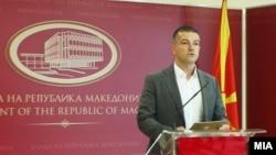 Прес конференција на министерот за информатичко општество и администрација Дамјан Манчевски
